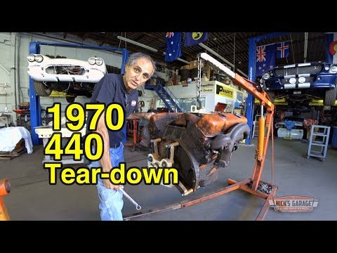 1970 Challenger Original 440 Tear Down - Project Kowalski Begins
