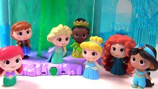 huge disney princess surprise toy blind box show cinderella elsa anna tiana belle mulan ariel