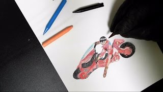 #1 Colored Plastic Pencils クーピーペンシルでAKIRAの世界を絵描く!!