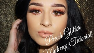 Peach Glitter | Makeup Tutorial | Jenn Lee