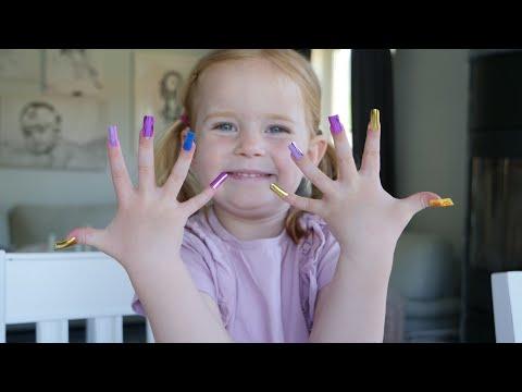 24 timmars challenge - Chloe har långa Lösnaglar, försöker måla & baka!