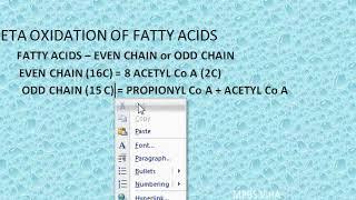 1405d Beta Oxidation Palmitic Acid by MBBS VIHA