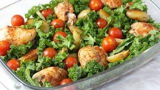 One Pan Cajun Chicken, Potato &  Kale Traybake  Easy Family Dinner