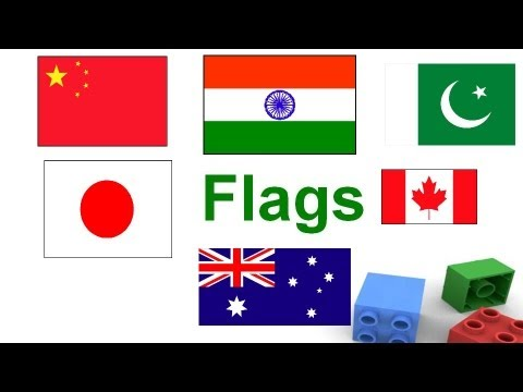 Flags for children Flags flash cards for kids Learn flags of