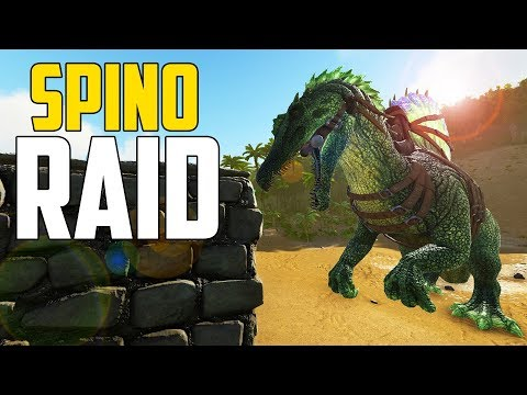 RAIDING w/ SPINO! - Ark Survival Evolved (Ark: The Volcano PVP #5)