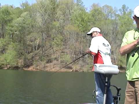 Huge Carters Lake Spotted Bass Caught On Tape!