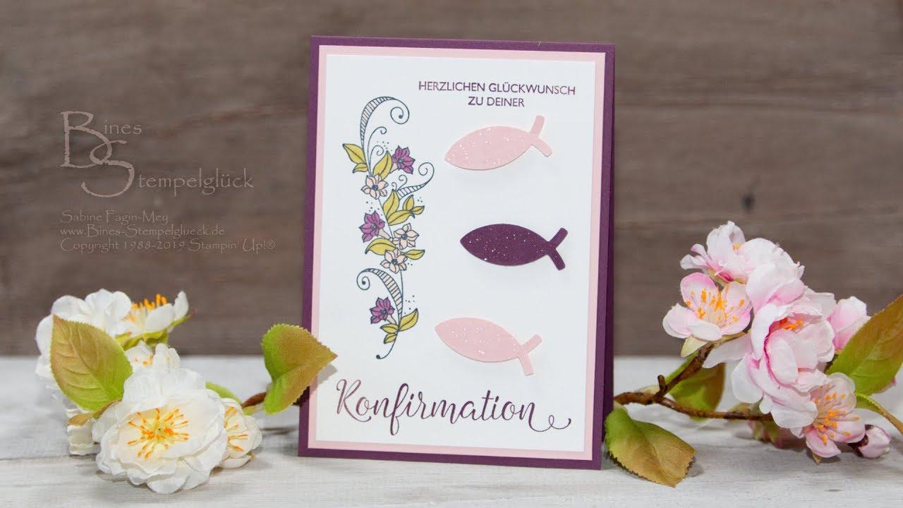 Konfirmationskartekommunionskarte Selbst Basteln Glückwünsche Und Einladungen Mit Stampin Up