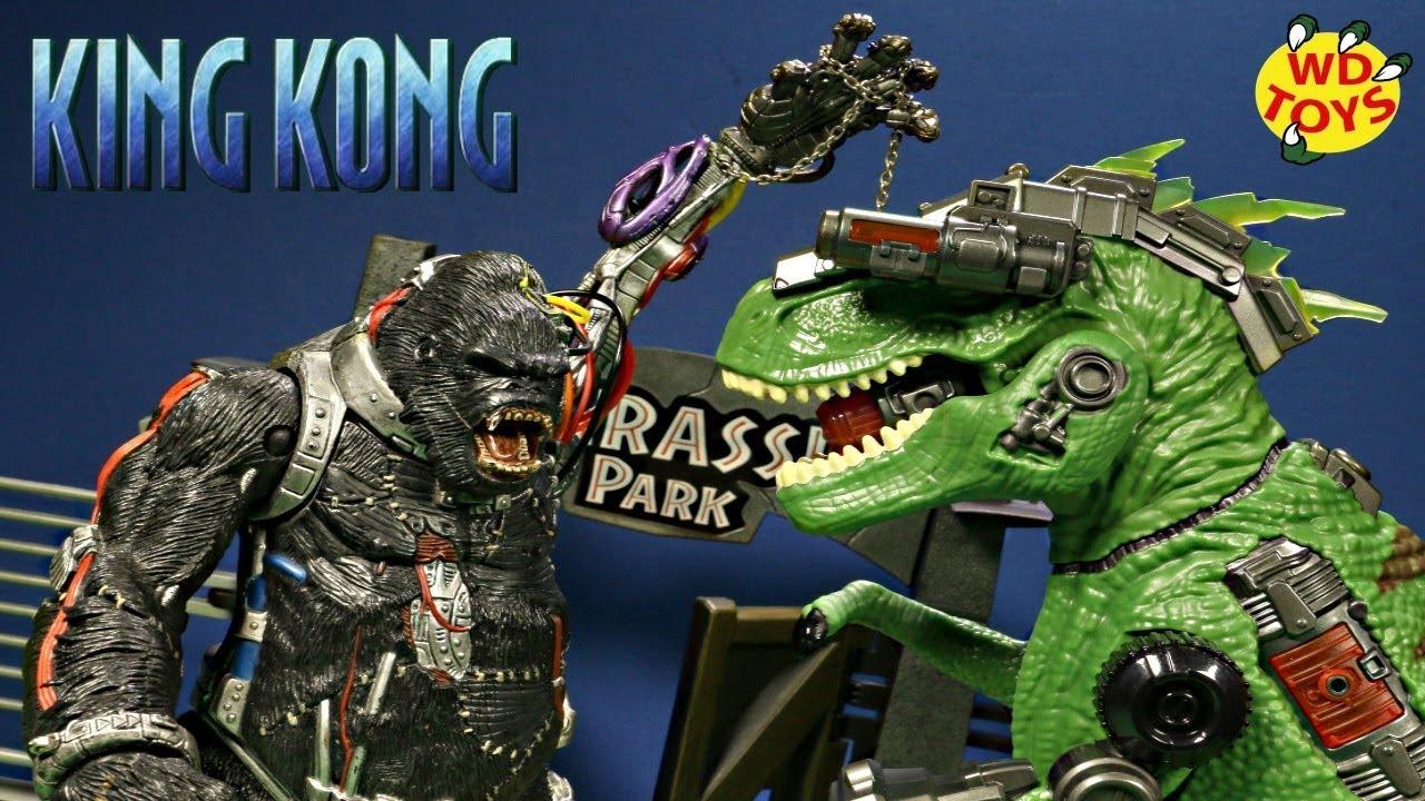 New T-Rex Vs King Kong!! Adventure Force Ultra Exosaur T Rex Dinosaur Toys  Unboxing Jurassic World