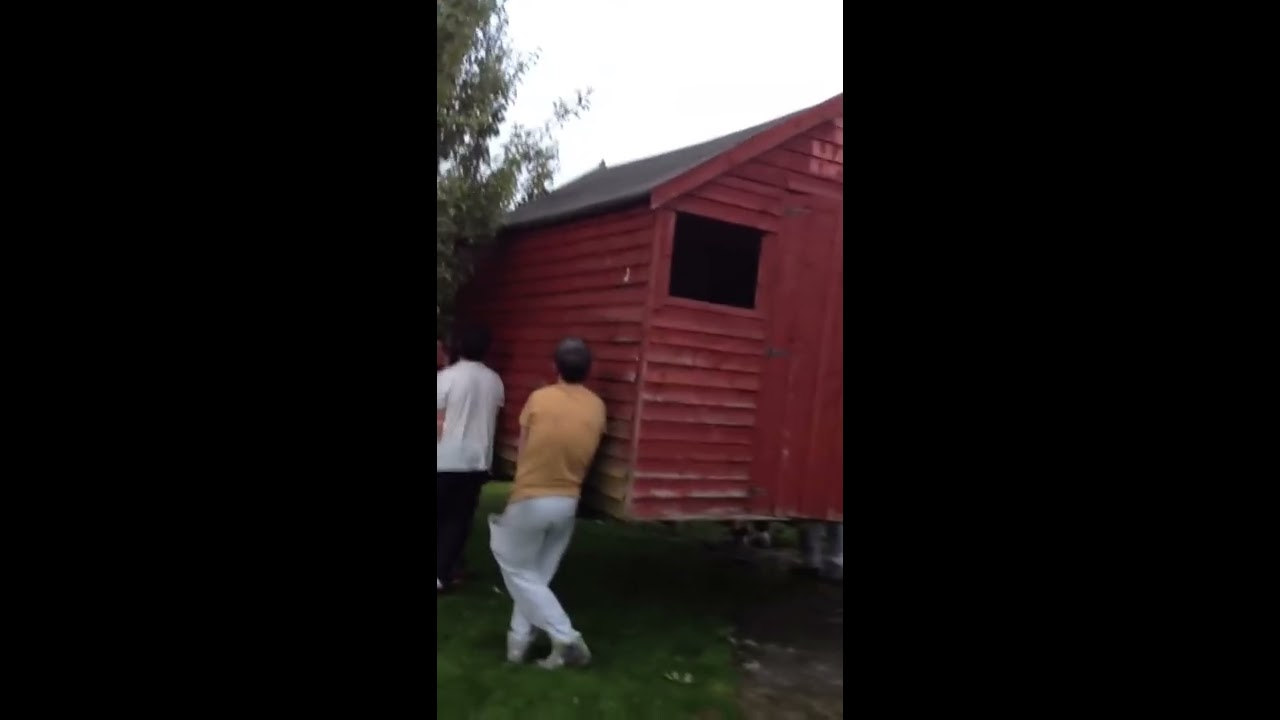 How Not To Lift A Shed Youtube