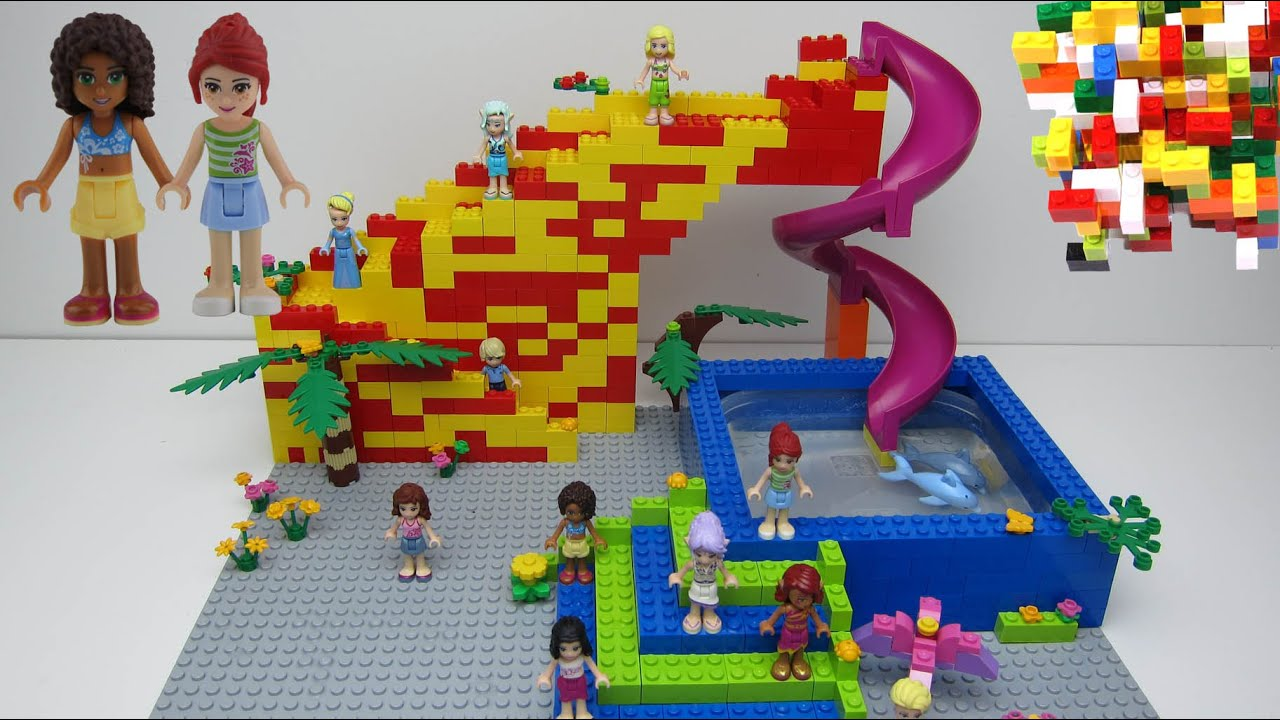 Lego Friends 2 Slide Dolphin Swimming Pool By Misty