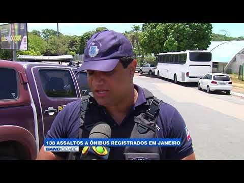 """Band Cidade - """"138 assaltos a ônibus registrados em Janeiro"""""""