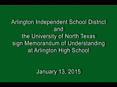 University of North Texas and AISD SIGN MOU