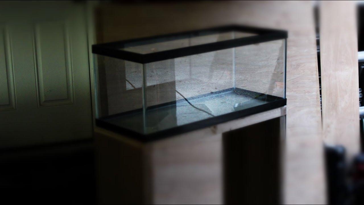 20 gallon long aquarium stand build youtube for 20 gallon long fish tank