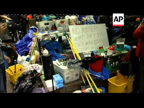 Occupy Wall Street activists say they will not leave park
