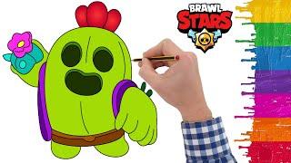 Spike Karakteri Nasıl çizilir - Brawl Stars çizimi