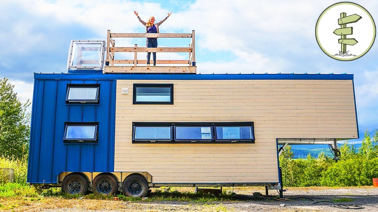 This big modern tiny house is pure luxury full tour in for Big modern house tour