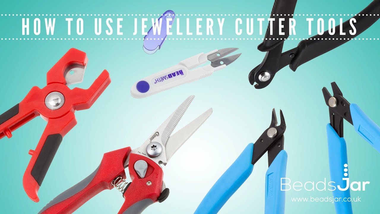How to use jewellery cutter tools [beadsjar.co.uk] - YouTube