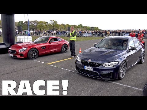 BMW M3 F80 Manhart vs Mercedes-AMG GT S