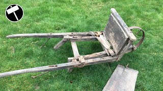 Antique Wooden Wheelbarrow Restoration