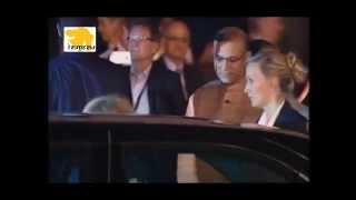 German Chancellor Angela Merkel arrives on three-day visit to India