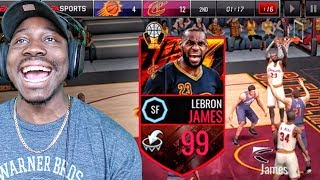 99 OVR MASTER LEBRON JAMES CATCHING ALLEY-OOPS! NBA Live Mobile 16 Gameplay Ep. 134