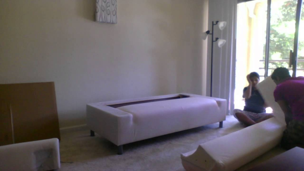 Assembling KLIPPAN Storlien Black/white Sofa (Me And Priti) Time Lapse  Video   YouTube