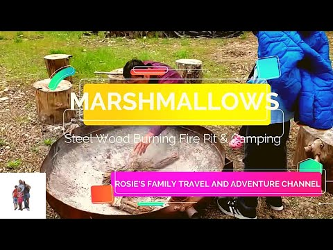 Marshmallows, Steel Wood Burning Fire Pit & Camping