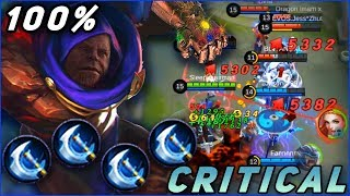 AULRAD 100% CRITICAL CHANCE GAMEPLAY! CONSTANT OP DAMAGE, Is it fit with Aulrad? MLBB's Thanos