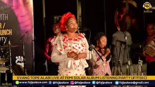 TOPE ALABI PERFORM YES & AMEN AT FEMI SOLAR LISTENING PARTY TFSEC