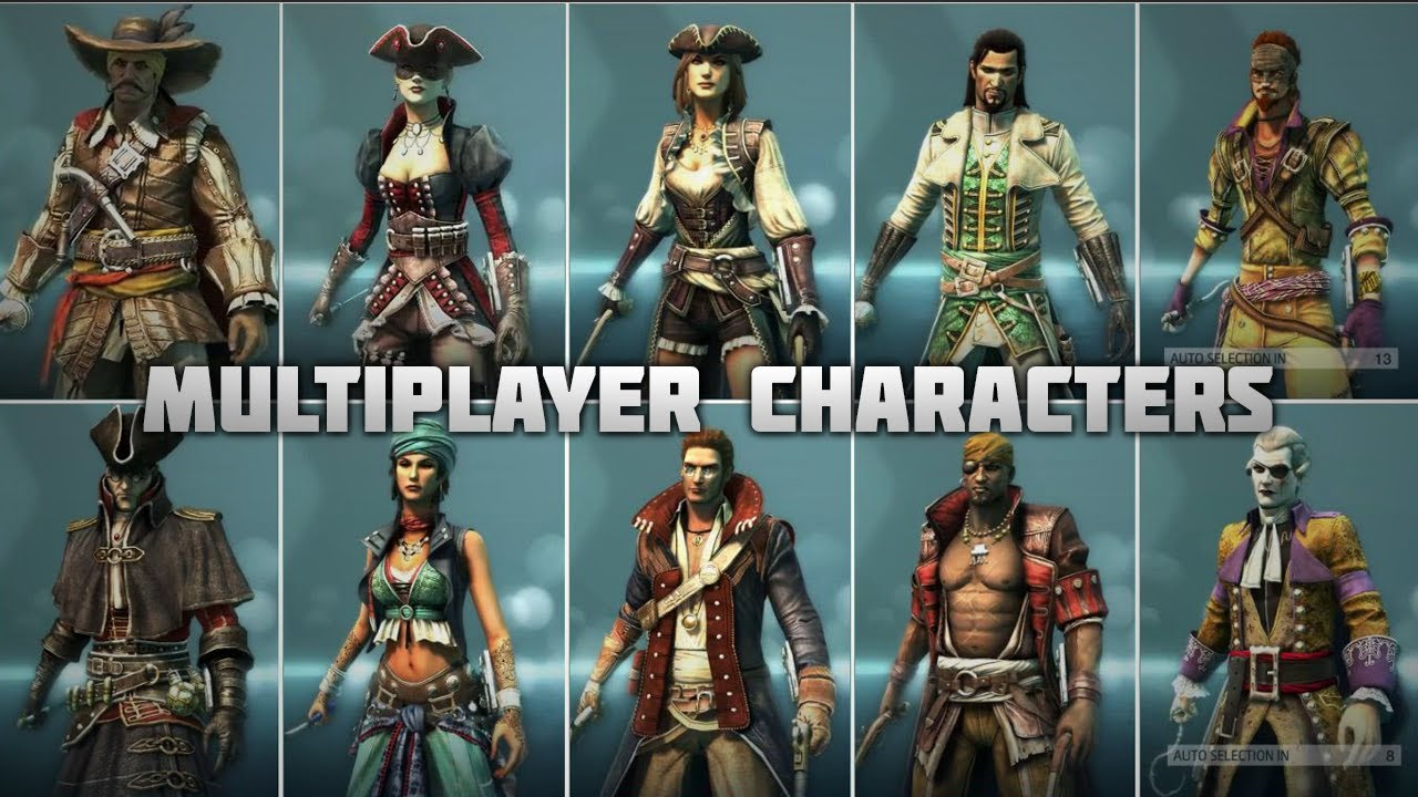 Assassin S Creed 4 All Multiplayer Characters Youtube