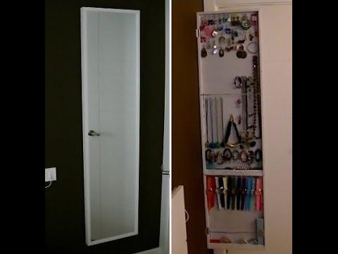 Como hacer un armario o espejo joyero diy organizador - Organizadores de armario ...