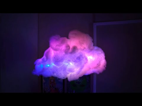 DIY Cloud Light (animated & sound responsive lights!)    Tiffyquake ♡ - YouTube