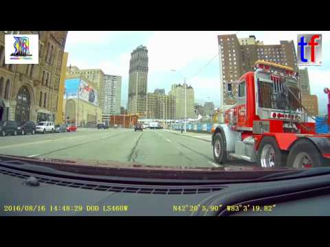 Detroit: Driving From Downtown to Northwest 'n Back, Dashcam, 10/16/2016.