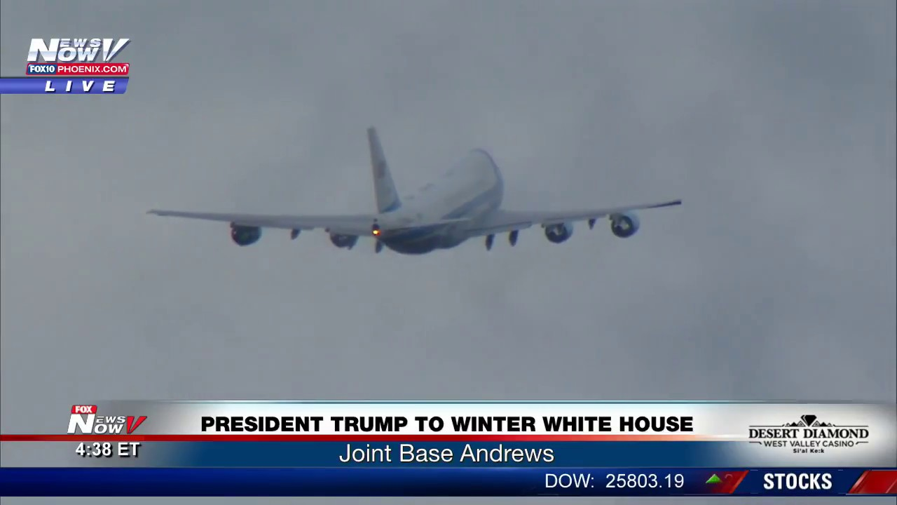WATCH: Incredible Air Force One Take Off FULL SOUND (FNN)