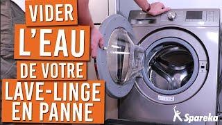 Vider l'eau d'une machine à laver