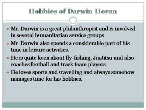 Hobbies of Darwin Horan Founder of Ventana Capital Colorado