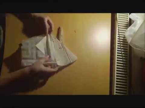 Origami Crane In Flight Youtube
