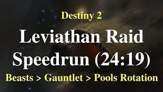 Destiny 2: Leviathan Raid Speedrun (24:19) Beasts - Gauntlet - Pools Rotation