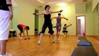 Круговая функциональная тренировка  в студии аэробики