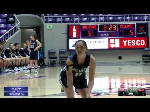 2A Girls Basketball: Millard vs Duchesne High School UHSAA 2019 State Tournament 5th Place