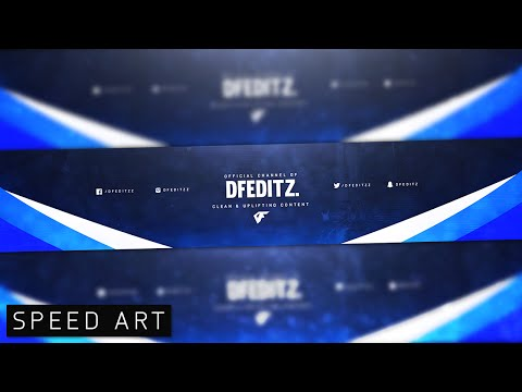 Photoshop Clean Gaming Banner Speed art- Esports Style