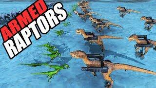 EPIC RAPTOR ATTACK & Dinosaur World Cup Match! (Beast Battle Simulator Gameplay