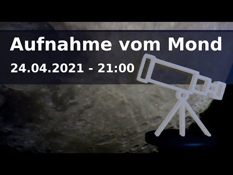 Teleskop Aufnahme vom Mond am 24.4.2021 21:00