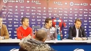 Presentación de Juan Muñoz con el Levante UD