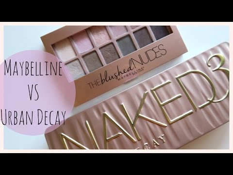 Maybelline The Blushed Nudes VS. Urban Decay Naked 3