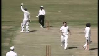 Muhammad Ilyas from Peshawar took 9 Wickets against SSGC in Quaid e Azam Trophy