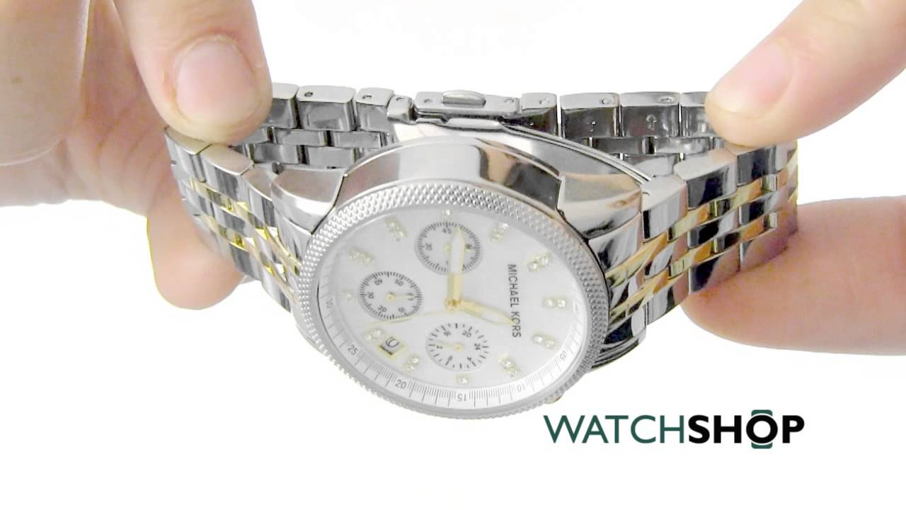 c8ce5eef7177 Michael Kors Ladies  Ritz Chronograph Watch (MK5057) - YouTube