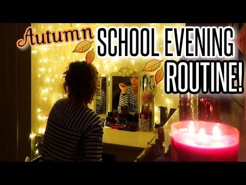 MY SCHOOL NIGHT ROUTINE - Autumn 2017 | BeautySpectrum