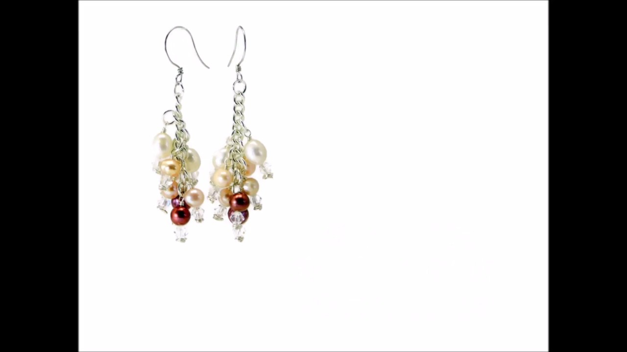 Swarovski & Freshwater Pearl Wire Wrapped Cluster Earrings - DIY ...
