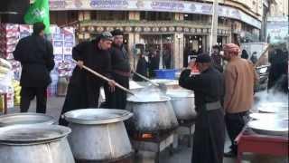 04-Dec-2011 Karbala - Muharram Nazr Niaz - Food for free distribution near Roza of Hazrat Abbas A.S.